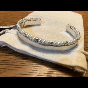 Lucky Brand Silver and Pearl Cuff Bracelet